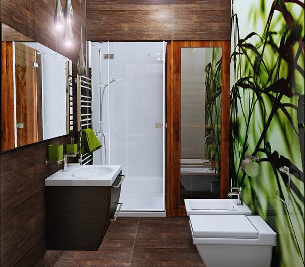 ide desain dinding kreatif kamar mandi rancangan desain