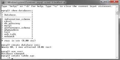 117 MySQL dengan menggunakan Command Prompt (CMD)
