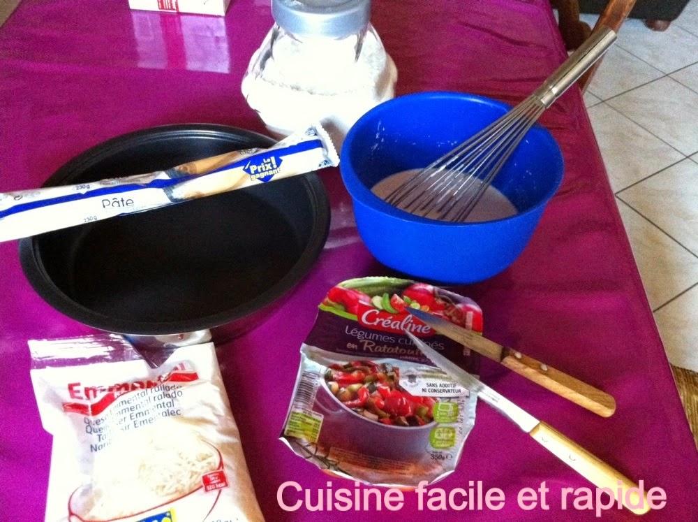 Cuisine facile et rapide quiche la ratatouille cr aline - Cuisine indienne facile rapide ...
