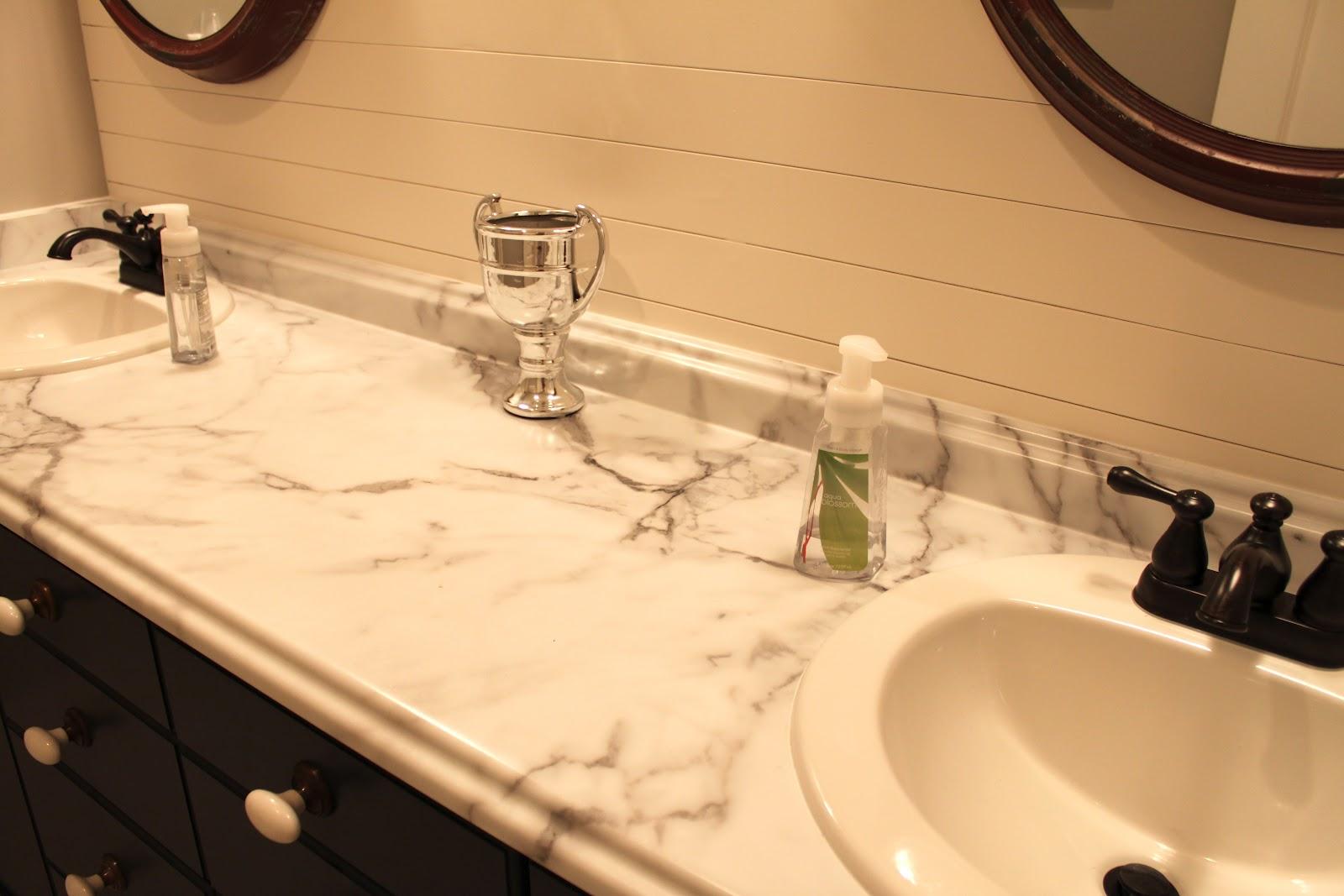 Formica bathroom countertops - Downstairs Bathroom Transformation