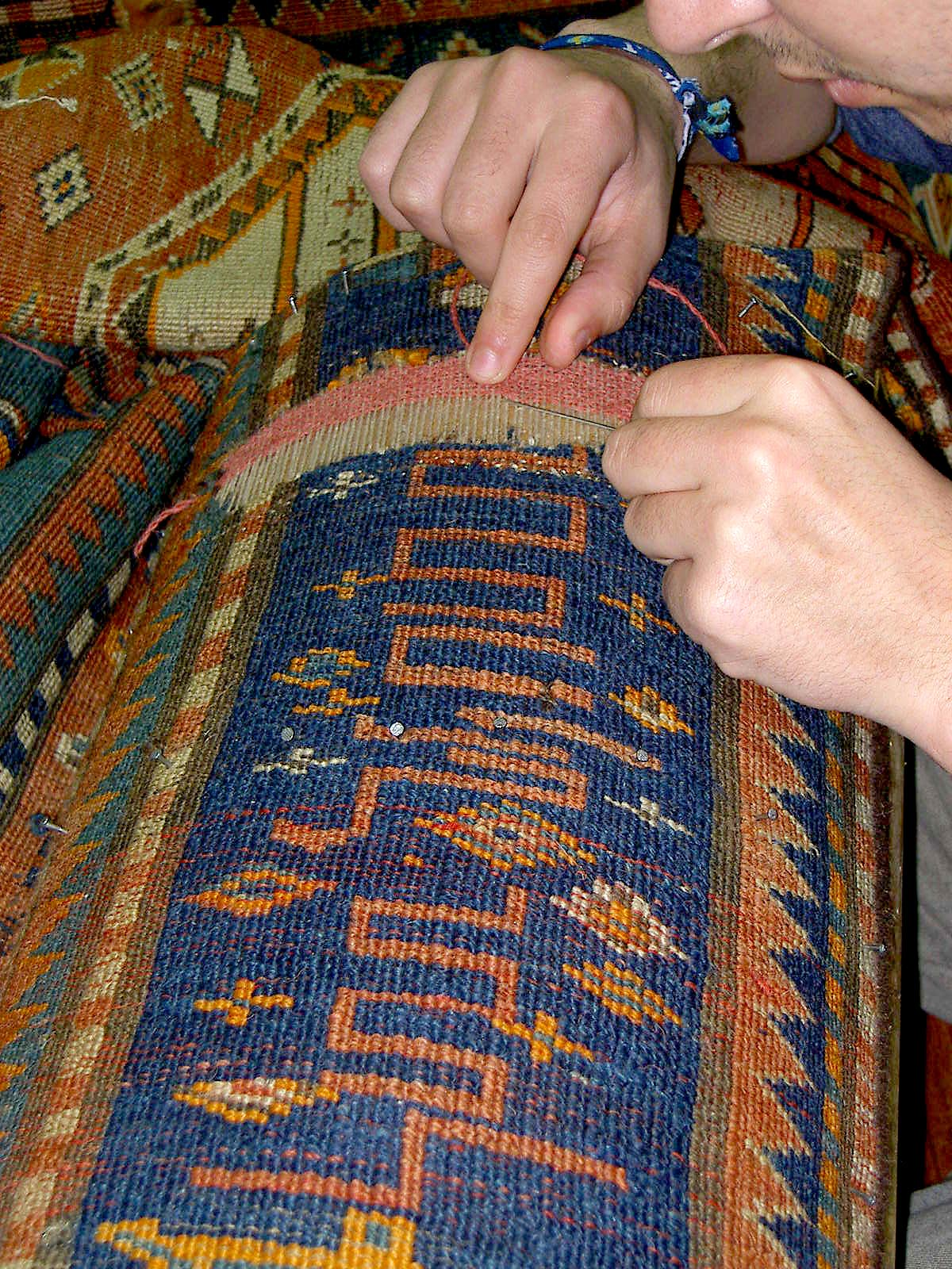 Aubusson alfombras y tapices trabajo de restauraci n y puesta en valor de alfombra antigua - Restauracion de alfombras ...