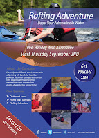 Champing Adventure Rafting Flyer Template