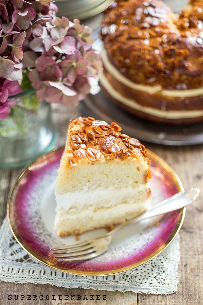 Bienenstich: Bee Sting Cake #GBBO Bake Along supergolden bakes