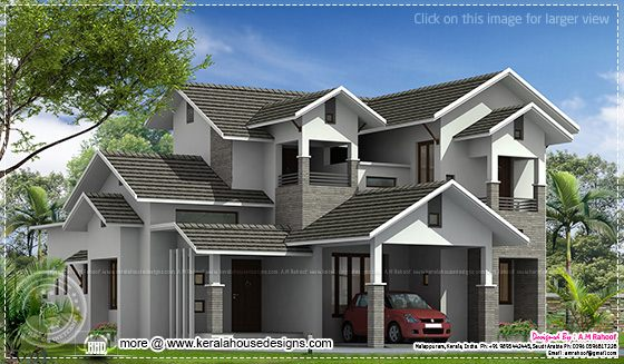 House elevation in 2500 sq-ft