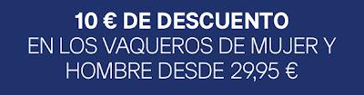 10€ DE DESCUENTO EN VAQUEROS DE MUJER Y HOMBRE DE HM
