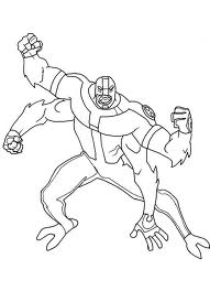 drawing and coloring blog ben 10 4 arms coloring pictures
