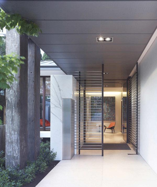 Photo of modern entrance door