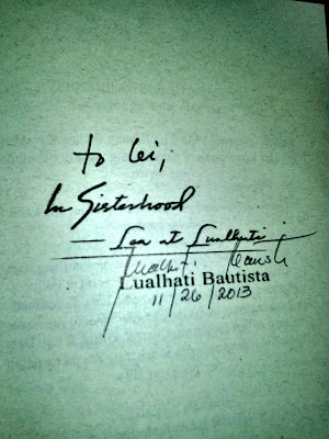 autograph, signature, lualhati bautista, in sisterhood