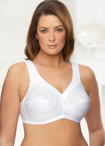 glamorise lingerie magic lift embroidered cotton posture bra pictures