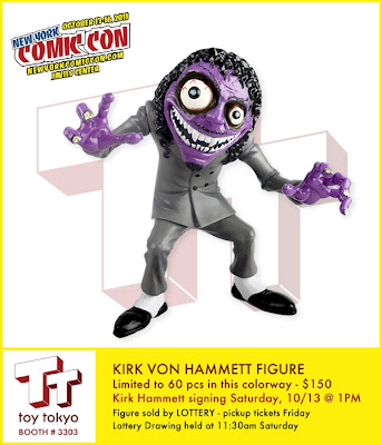 New York Comic-Con 2012 Exclusive Kirk Von Hammett Vinyl Figure by Metallica's Kirk Hammett