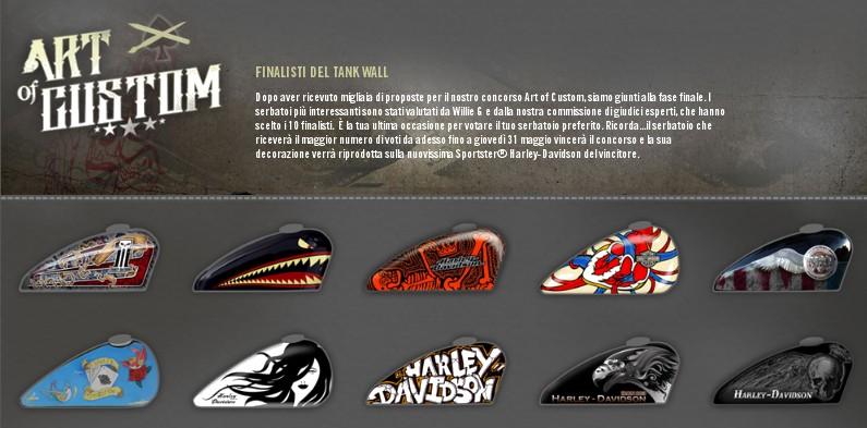 Harley davidson art of custom serbatoi finalisti