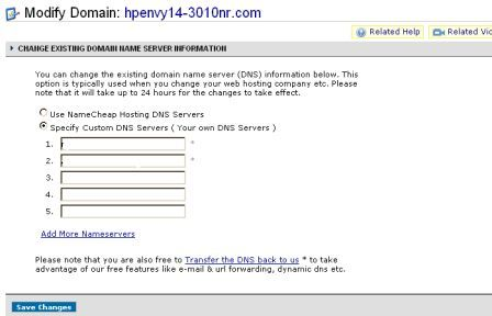 mengarahkan domain baru ke hosting