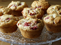 Strawberry Vanilla Muffins