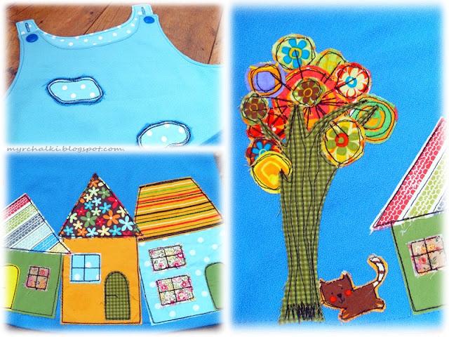 аппликация из ткани на детской одежде