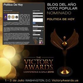 Blog Política de Hoy resulta finalista en Premios Victory Awards 2015
