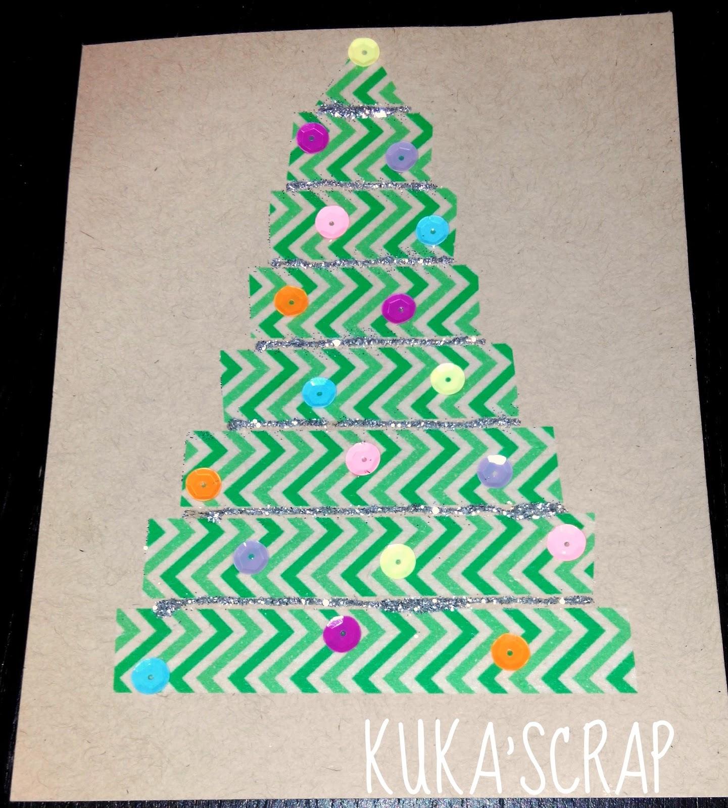 Kukascrap Tarjetas de Navidad fciles para nios
