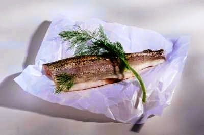 Fish roasted on greaseproof paper, Mediterranean Diet, The Cretan Diet