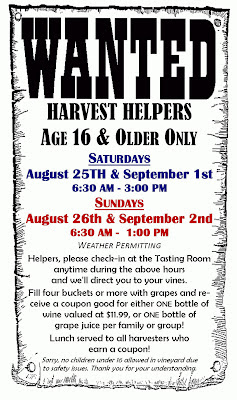 Silver Moon Winery Harvest Helpers