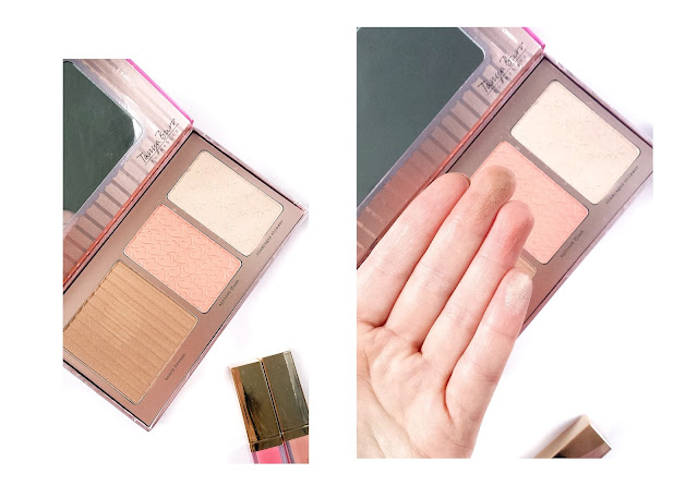 tanya burr cheek palette review, peach glow