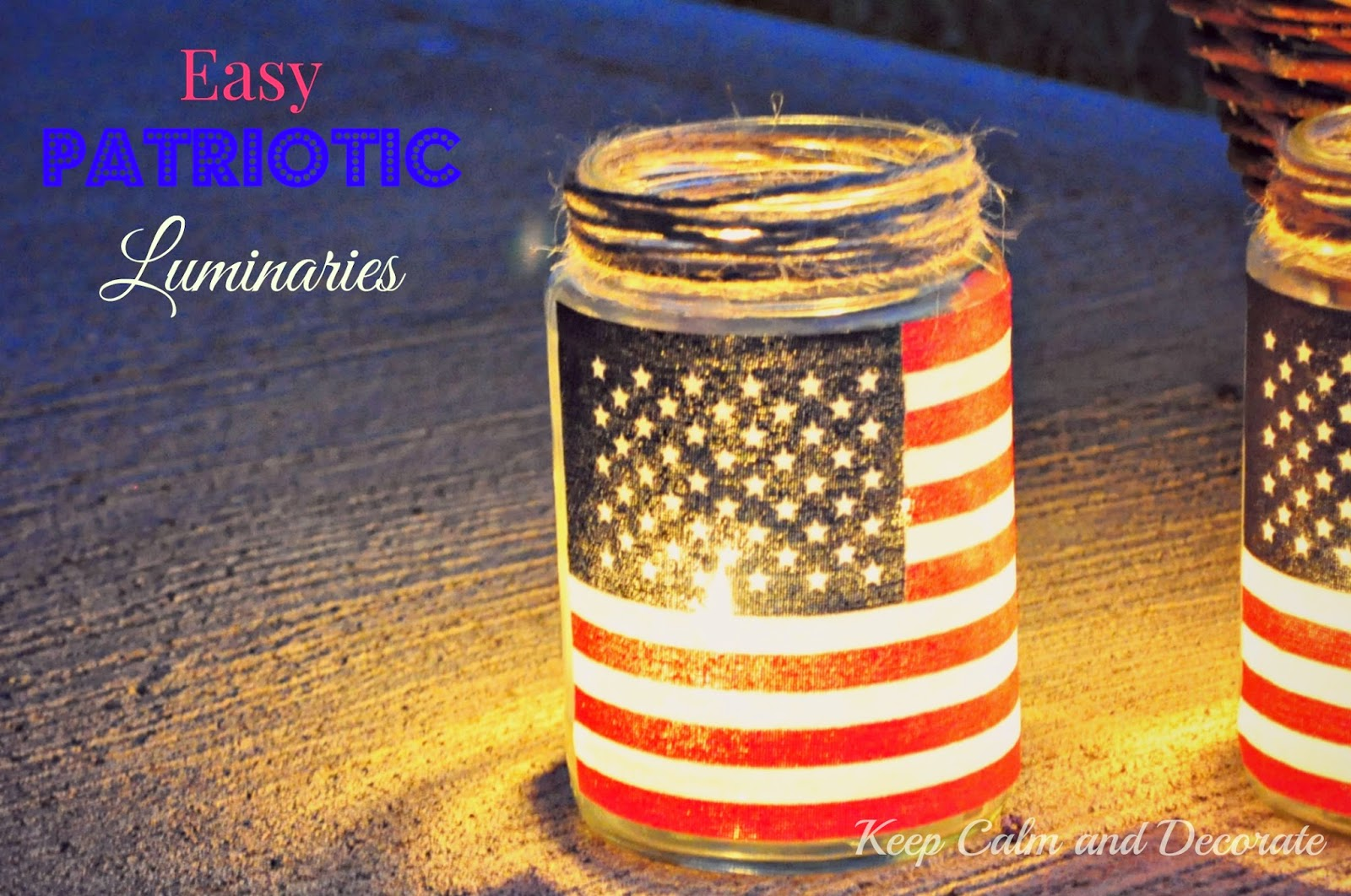 4th of July Lamps, Luminaries, and Lanterns. DIY tutorials and How to's. Add a touch of light to this holiday known for stars and