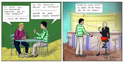 Comic benzi desenate Un prieten ii da un sfat altui baiat despre relatii cum faci la prima intalnire cu o fata