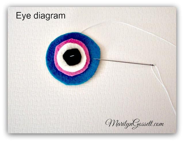 felt toy eyes