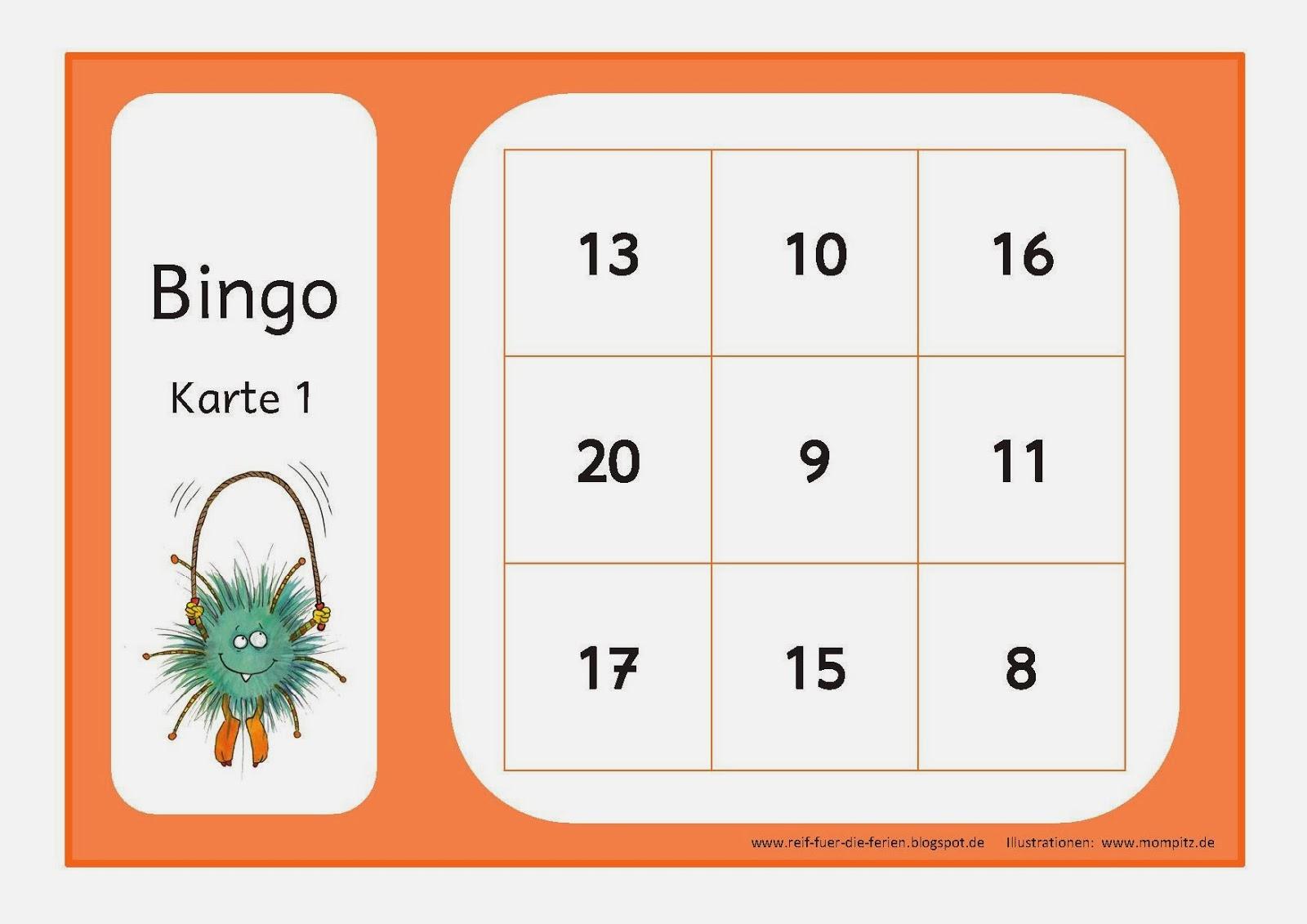 Mompitz - Bingo bis 20
