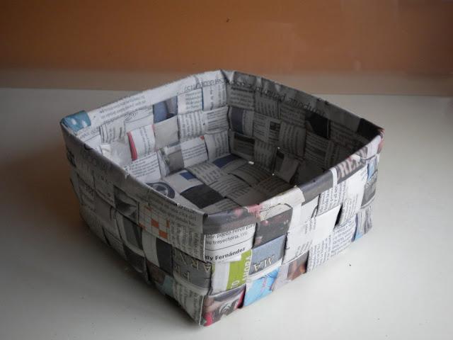 Miss crafts by almudena valiente atelier de sombreros tocados complementos cestas de papel - Cestas de papel periodico ...