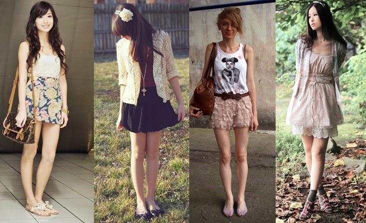 roupas de renda
