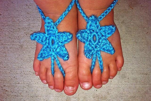 Crochet Rochelle Baby Star Barefoot Sandals