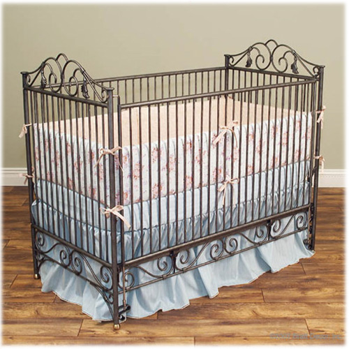 Toddler Bed And More Luxury Baby Cribs Casablanca Iron Pewter Stationary Crib