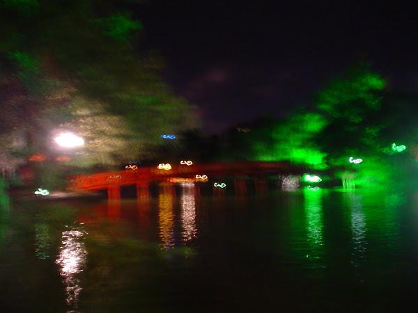 Huc bridge. Hanoi, Vietnam