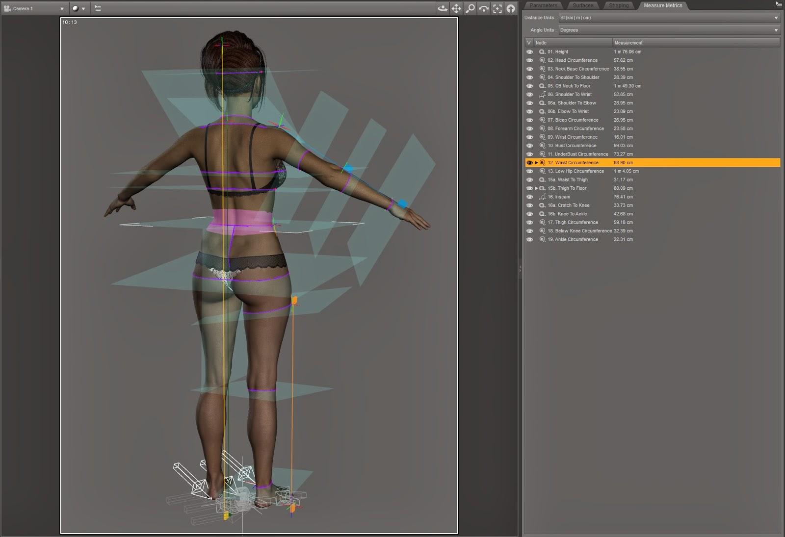 Mesurer Metrics pour DAZ Studio