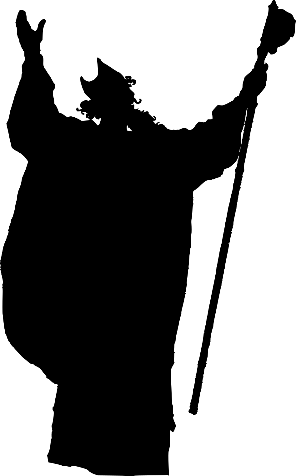 Clipart - Wizard Silhouette