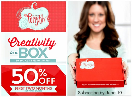 Paper Pumpkin Monthly Kits SAVE50 special offer for new subscribers