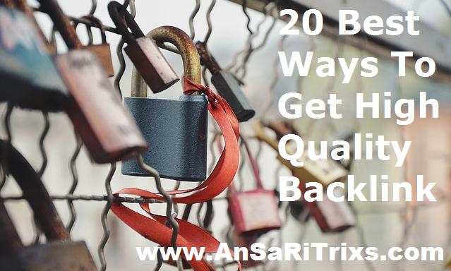 Best Ways To Get High Quality Backlinks