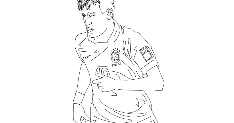 Coloring Pages Of Messi And Ronaldo