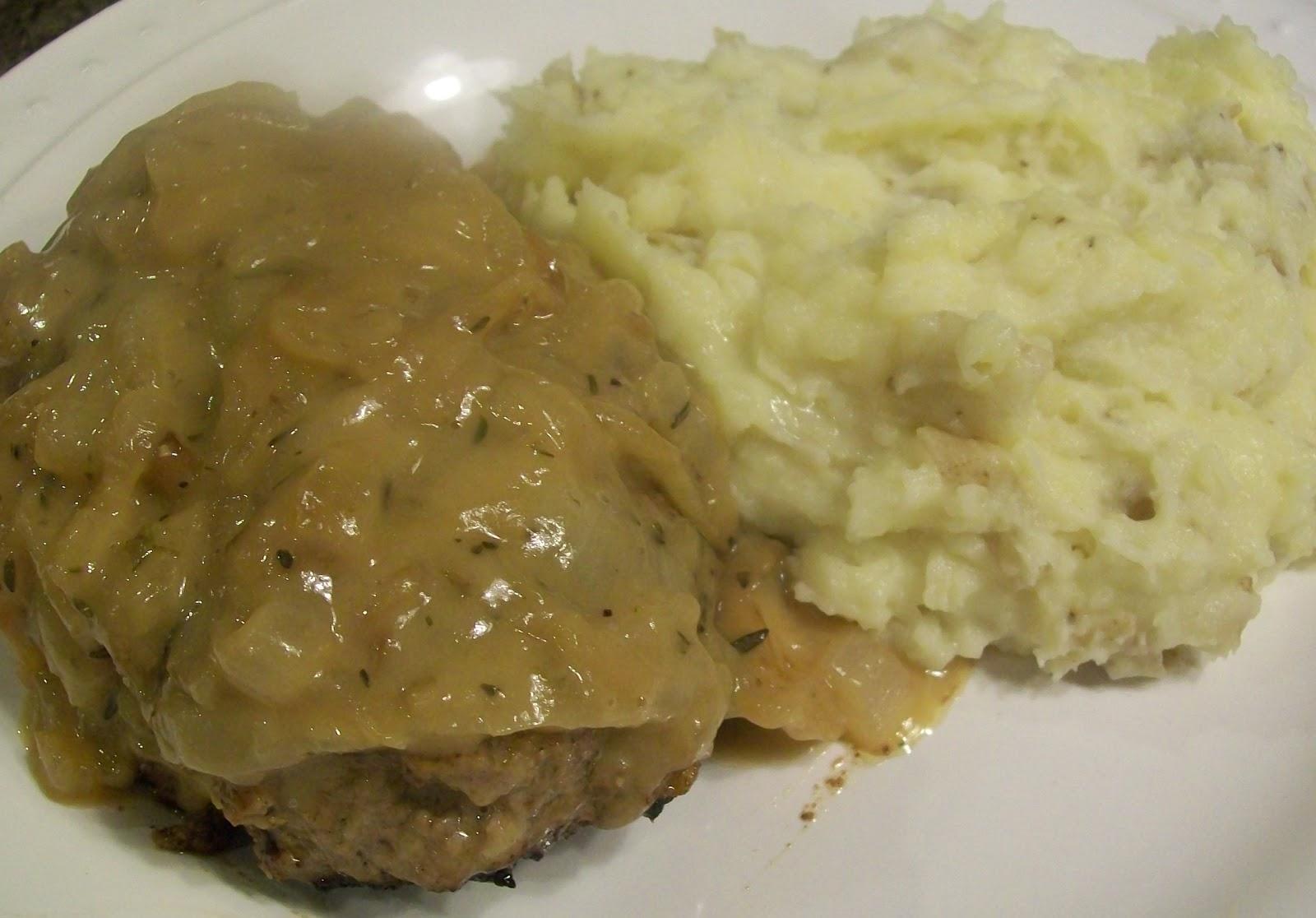 ... : Rachael Ray Wednesday - Salisbury Steaks with French Onion Gravy