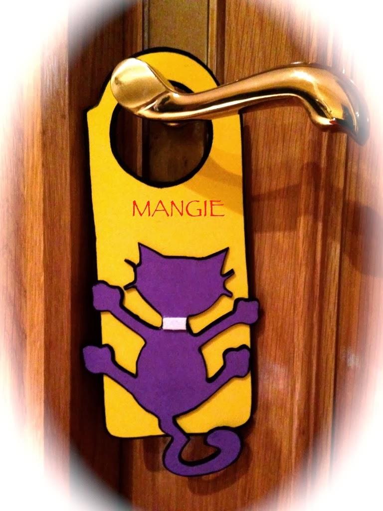 Colgador puerta silueta de gato