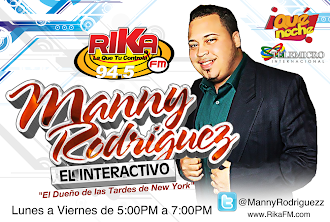 "SINTONIZA EL PROGRAMA DE MANNY RODRIGUEZ ""EL INTERACTIVO"" LUNES A VIERNES DE 5-7PM POR 94.5FM NYC"