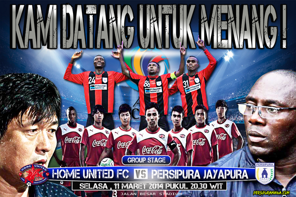 Home United vs Persipura Jayapura AFC Cup 2014