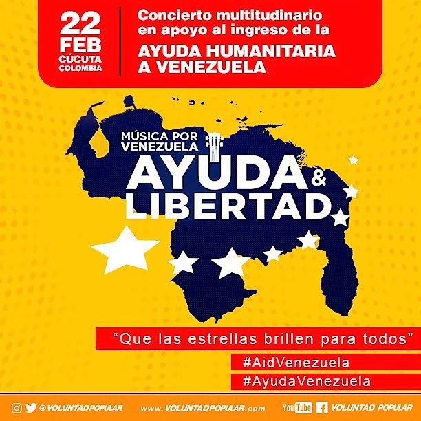 22 de fevereiro: Cúcuta - Colômbia