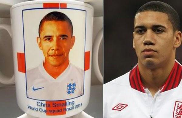 Tersilap Cetak Wajah Barrack Obama Koleh England World Cup