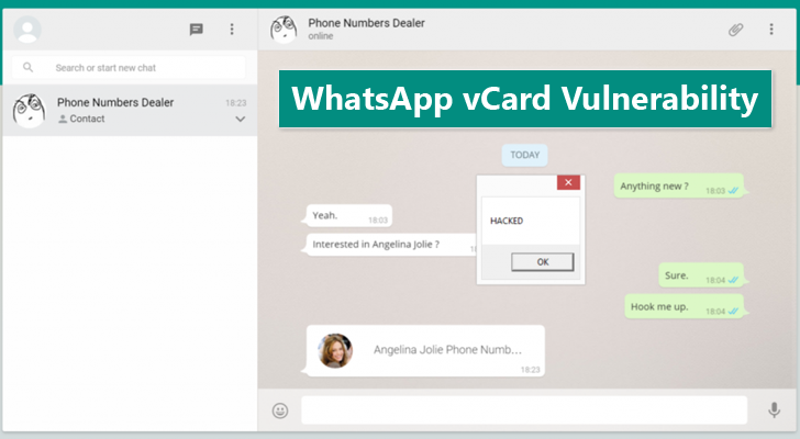 200 Million WhatsApp Users Vulnerable to vCard Vulnerability