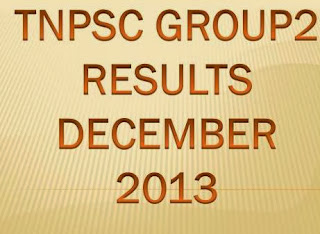 TNPSC Group2 Exam Results 2013 at www.tnpsc.gov.in