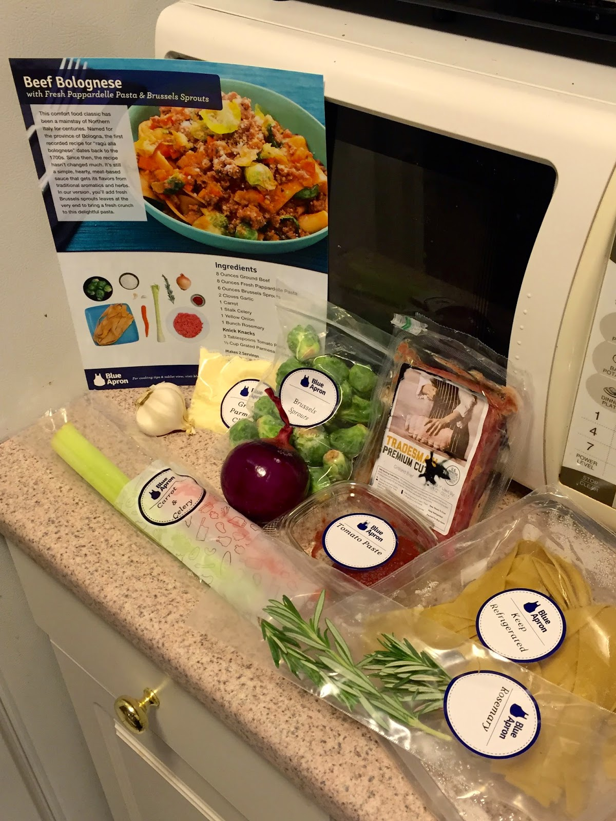 Cooking with Blue Apron
