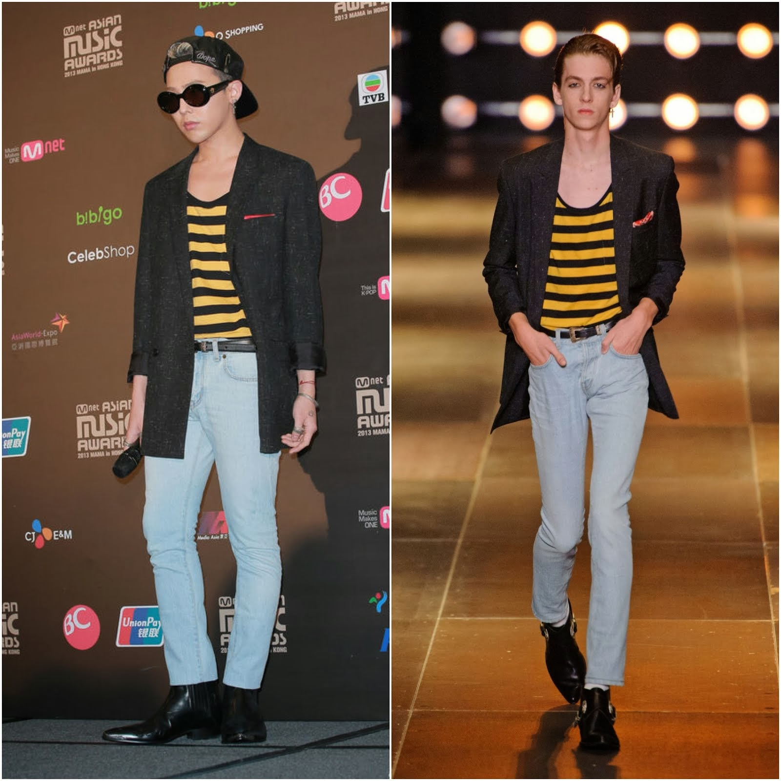 G-Dragon in Saint Laurent Spring Summer 2014 - Mnet Asian Music Awards 2013 Press Conference