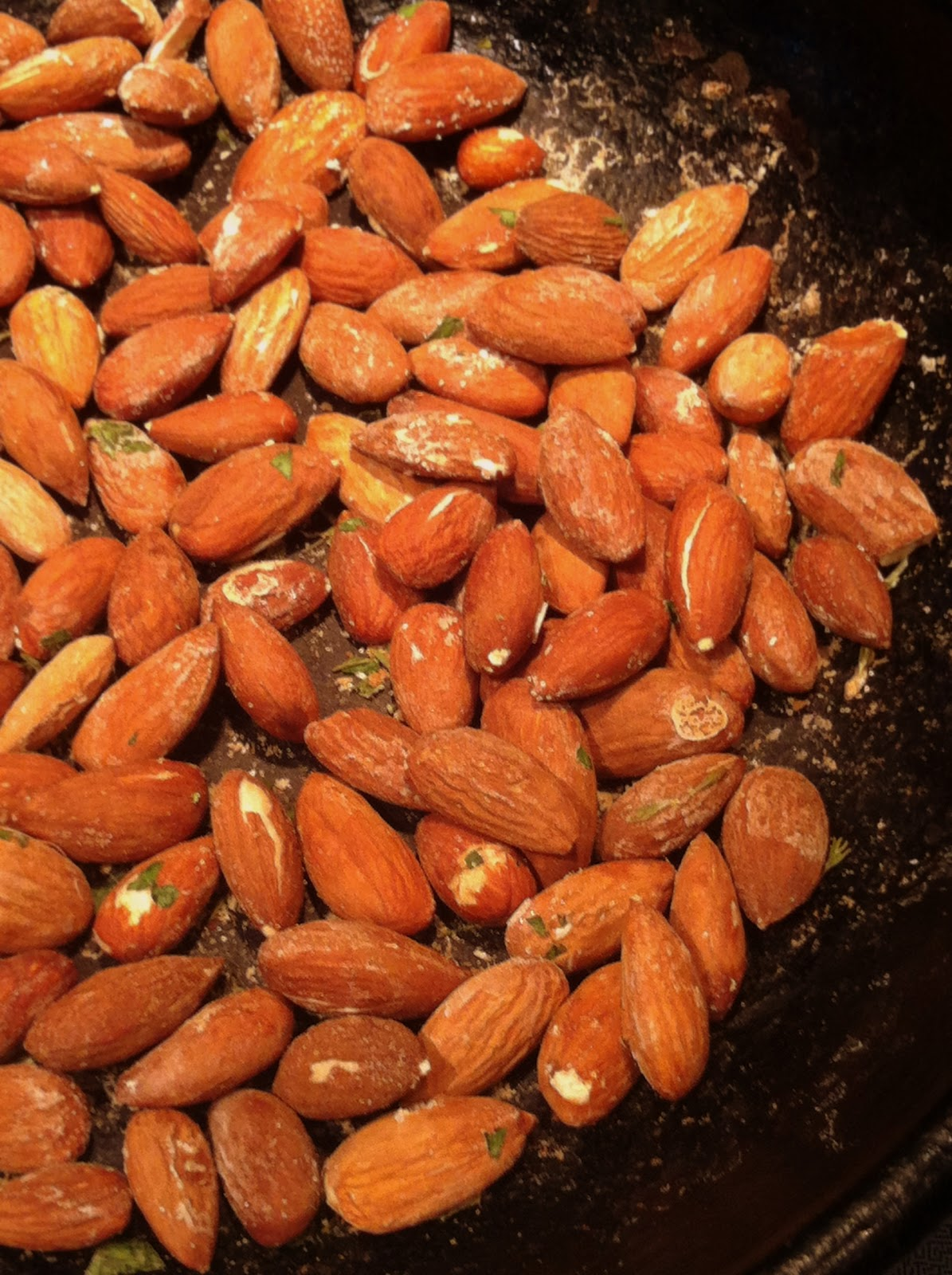 Mint Green Apron Oven Roasted Almonds With Fresh Herbs Almond