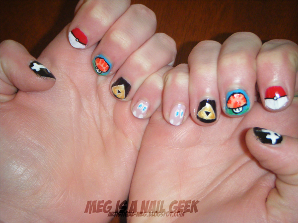 Stormtroopers skulls and video games oh my meg is a nail geek avcon nails i really liked how these turned out can you tell what gamesanime each nail is from most of what i used here was paint and nail art pens solutioingenieria Gallery