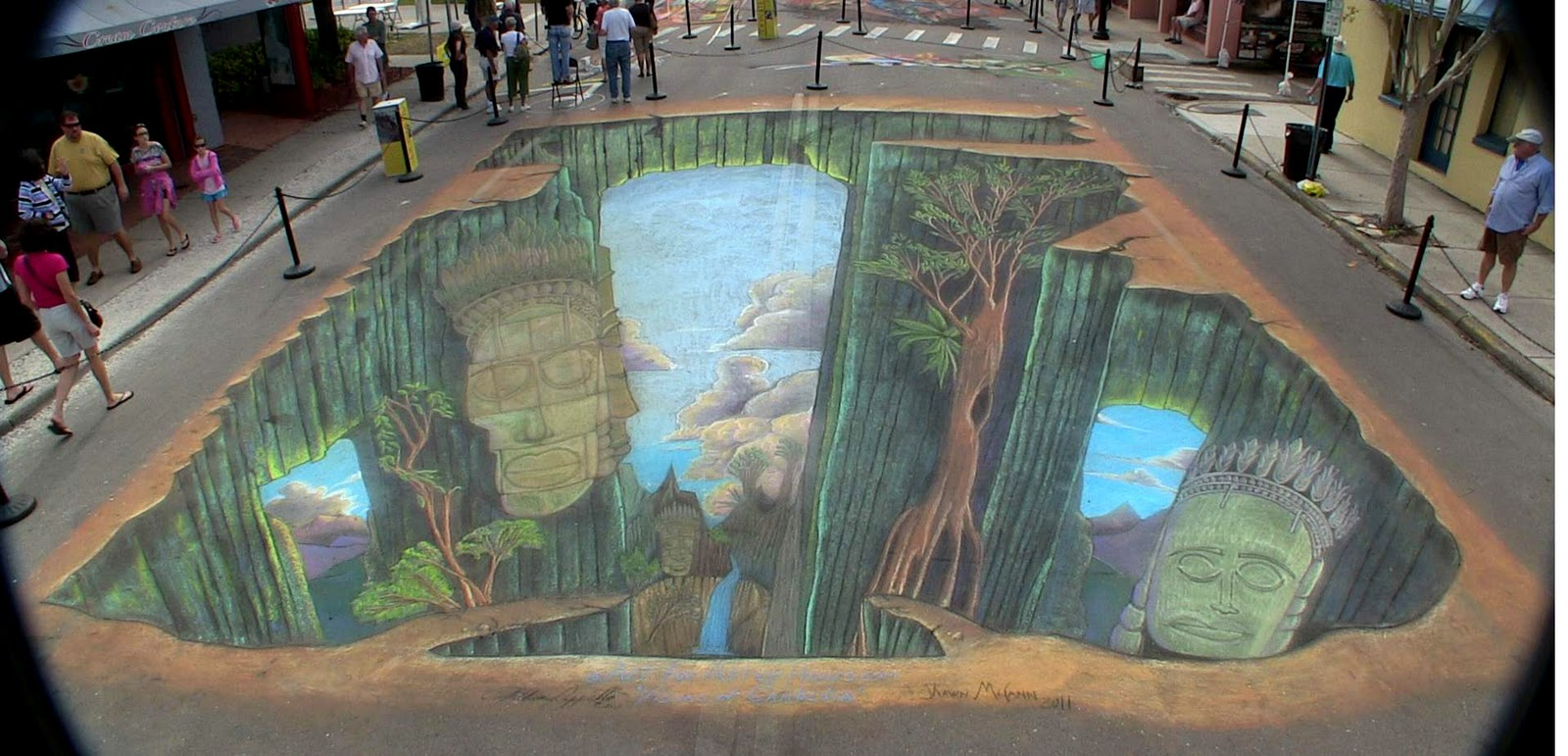 Shawn mccann street painting 3d wall murals regulare for Art mural painting